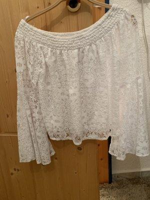 Hollister Camisa de un solo hombro blanco