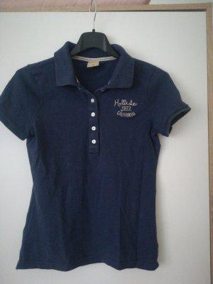 Hollister Camiseta tipo polo azul oscuro