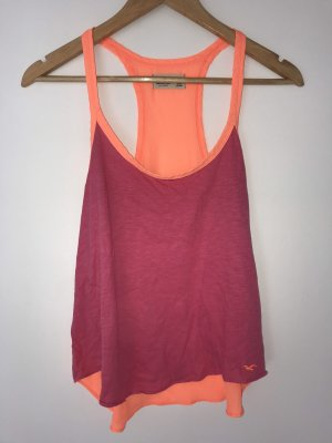 Hollister Silk Top neon pink-neon orange