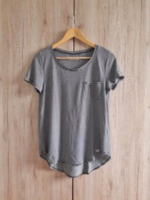 Hollister Shirt gestreift schwarz weiß Gr. S