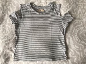 Hollister Cut Out Top white-black