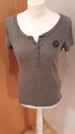 Hollister Shirt mit Knopfleiste