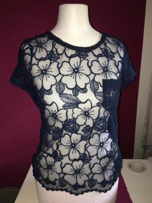 Hollister Shirt mit Spitze dunkelblau XS