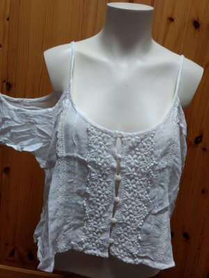 Hollister Cropped Shirt white