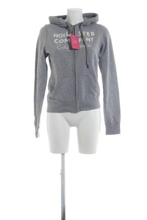 Hollister Shirt Jacket light grey flecked urban style