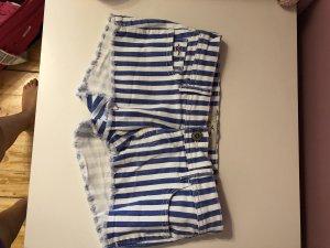 Hollister Short moulant blanc-bleu