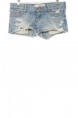Hollister Shorts himmelblau Destroy-Optik