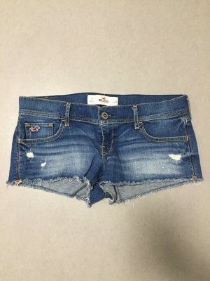 Hollister Shorts Jeans Gr 7 W 28 blau