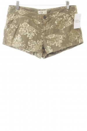 Hollister Shorts khaki-goldfarben florales Muster Street-Fashion-Look