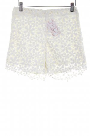 Hollister Shorts wollweiß florales Muster Beach-Look