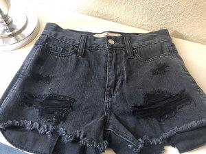 Hollister Shorts wripped Hose schwarz hotpants high rise