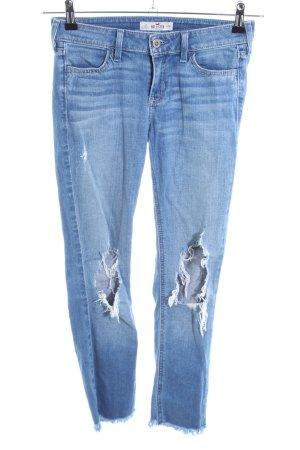 Hollister Jeans skinny blu stile da moda di strada