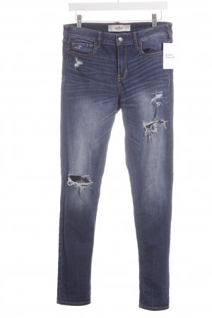 Hollister Skinny Jeans blau Destroy-Optik