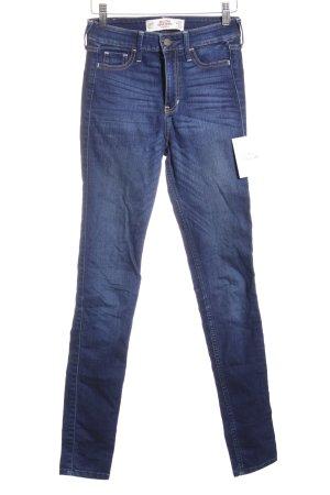 Hollister Skinny Jeans blau schlichter Stil