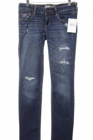 Hollister Skinny Jeans blau Street-Fashion-Look