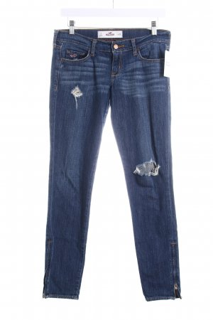 Hollister Skinny Jeans blau Used-Optik