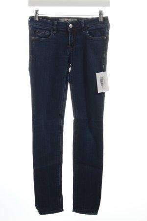 Hollister Skinny Jeans blau-wollweiß Casual-Look