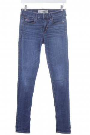 Hollister Skinny Jeans blau-wollweiß Used-Optik
