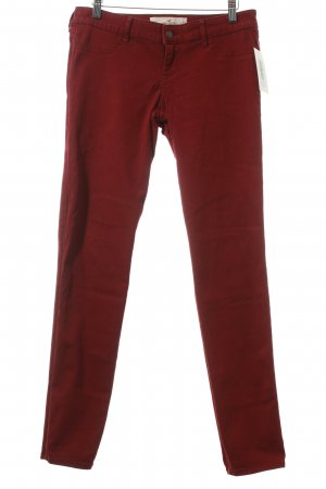 Hollister Skinny Jeans bordeauxrot Casual-Look