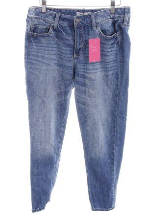 Hollister Skinny Jeans dunkelblau-kornblumenblau Casual-Look