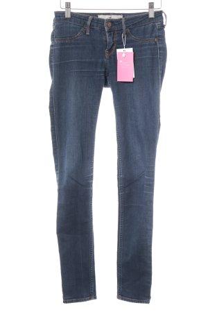 Hollister Skinny Jeans dunkelblau schlichter Stil