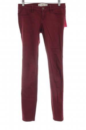 Hollister Skinny jeans rood casual uitstraling