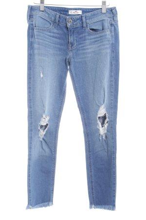 Hollister Skinny Jeans graublau Destroy-Optik