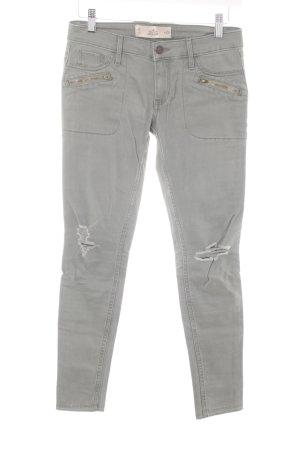 Hollister Skinny Jeans grüngrau Casual-Look