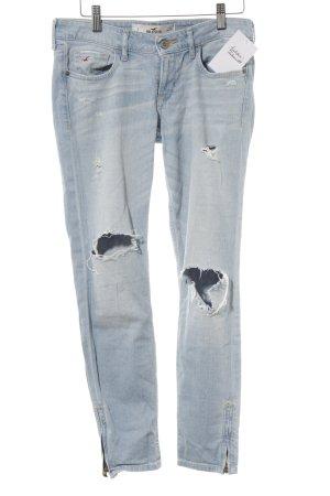 Hollister Skinny Jeans himmelblau Destroy-Optik