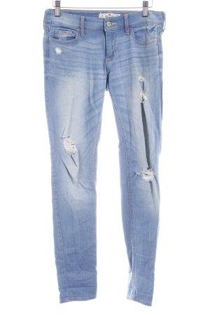 Hollister Skinny Jeans himmelblau-kornblumenblau Casual-Look