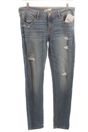 Hollister Skinny Jeans kornblumenblau Casual-Look
