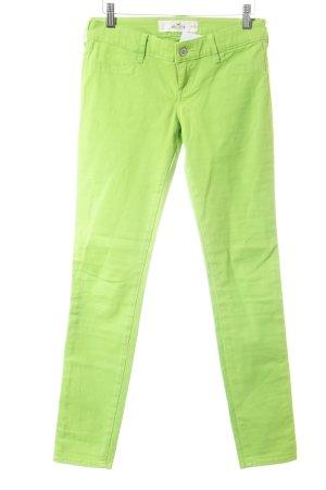 Hollister Skinny Jeans neongrün extravaganter Stil