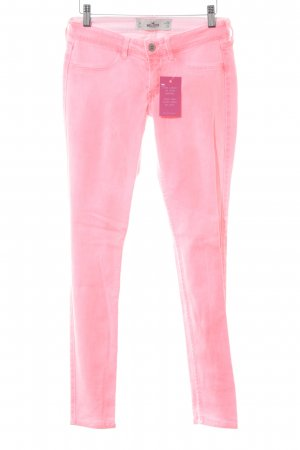 Hollister Skinny Jeans neonpink Washed-Optik