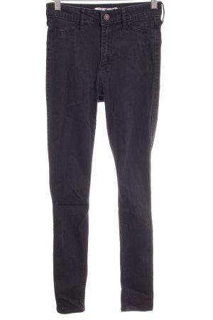 Hollister Skinny Jeans schwarz-dunkelgrau Casual-Look