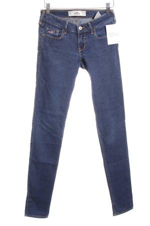 Hollister Skinny Jeans stahlblau-blau Casual-Look