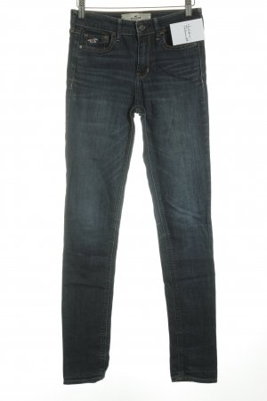 Hollister Skinny Jeans white-dark blue flecked casual look