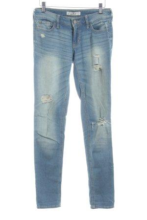 Hollister Slim Jeans blassblau Destroy-Optik