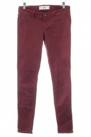Hollister Slim Jeans bordeauxrot Casual-Look