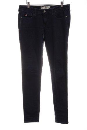 Hollister Slim Jeans dunkelblau Webmuster Casual-Look