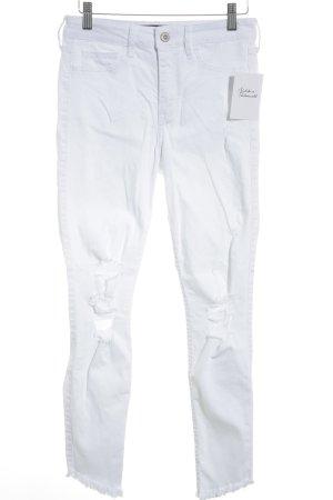 Hollister Jeans slim blanc style décontracté