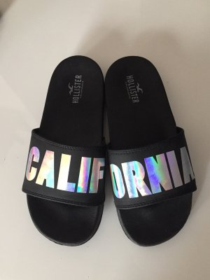 Hollister House Shoes black-silver-colored