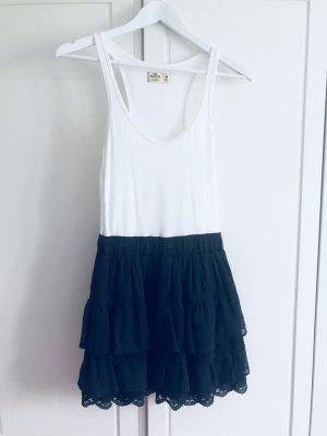 Hollister Sommerkleid weiß blau Gr. S