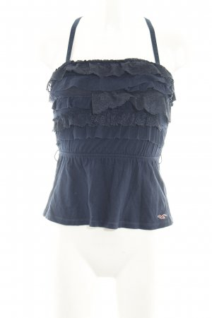 Hollister Spaghettiträger Top blau Casual-Look
