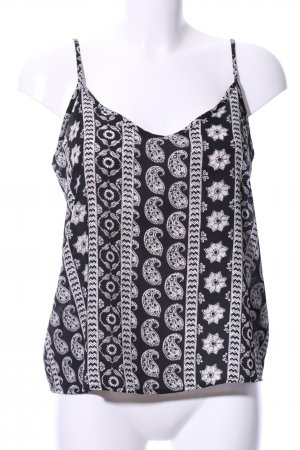 Hollister Spaghetti Strap Top black-white allover print casual look