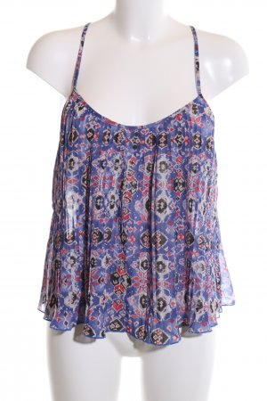 Hollister Spaghetti Strap Top blue abstract pattern casual look