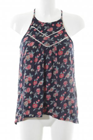 Hollister Spaghetti Strap Top flower pattern casual look