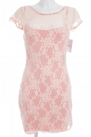 Hollister Kanten jurk stoffig roze-roze romantische stijl