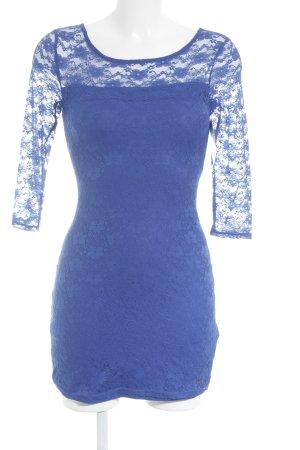 Hollister Spitzenkleid blau Party-Look