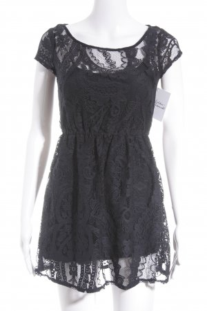 Hollister Lace Dress dark blue flower pattern party style