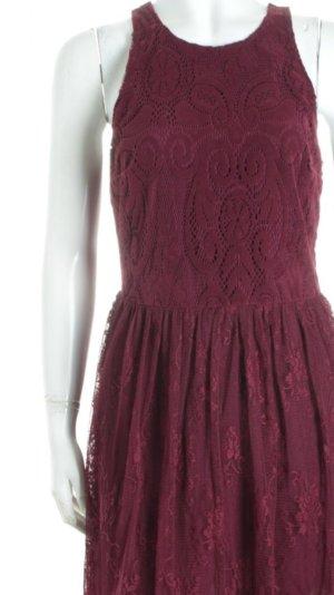 Hollister Spitzenkleid purpur Casual-Look